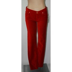 7 for all mankind The Skinny Red Velvet Jeans NWT